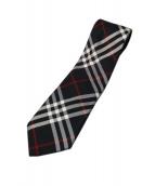 BURBERRY BLACK LABEL(バーバリーブラックレーベル)の古着「チェックネクタイ」|ブラック