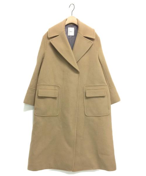 ebure(エブール)ebure (エブール) ウールダブルコート キャメル サイズ:38の古着・服飾アイテム