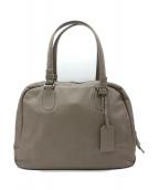土屋鞄(ツチヤカバン)の古着「クラルテサージュブリーフトートバッグ」|グレー