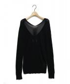 Maison Margiela 4(メゾンマルジェラ4)の古着「Vネックニット」|ブラック