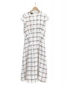 ESCADA(エスカーダ)の古着「ツイードドレス」 ホワイト