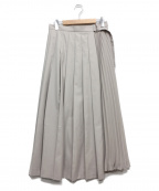LOUNIE(ルーニー)の古着「ラッププリーツスカート」 グレージュ