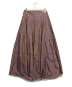 Apuweiser-riche(アプワイザーリッシェ)の古着「ティアードプリーツスカート」 パープル