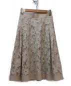 Apuweiser-riche(アプワイザーリッシェ)の古着「オパールレースフラワースカート」 ベージュ