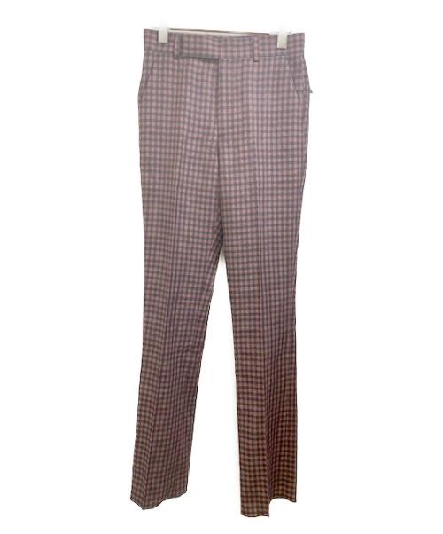 PAUL SMITH(ポールスミス)Paul Smith (ポールスミス) SHEPHERD CHECK TROUSERS ブラウン×ブラック サイズ:S 未使用品 チェックの古着・服飾アイテム