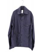 POST OALLS(ポストオーバーオールズ)の古着「クルーザーシャツジャケット」 ネイビー
