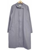MARGARET HOWELL(マーガレットハウエル)の古着「PROOFED FINE COTTONステンカラーコート」|グレー