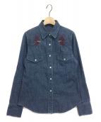 lucien pellat-finet(ルシアンペラフィネ)の古着「デニムシャツ」 インディゴ