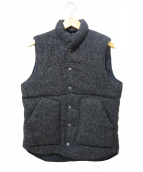 Harris Tweed(ハリスツイード)の古着「ヴィンテージ中綿ベスト」 グレー