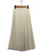Tsuru by Mariko Oikawa(ツルバイマリコオイカワ)の古着「プリーツスカート」|ホワイト
