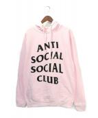 ANTI SOCIAL SOCIAL CLUB(アンチソーシャルソーシャルクラブ)の古着「パーカー」|ピンク