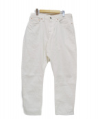Sanca(サンカ)の古着「WHITE DENIM CROPPED 5P」|ホワイト