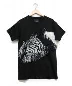 yoshio kubo(ヨシオクボ)の古着「ゼブラアップリケTシャツ」|ブラック