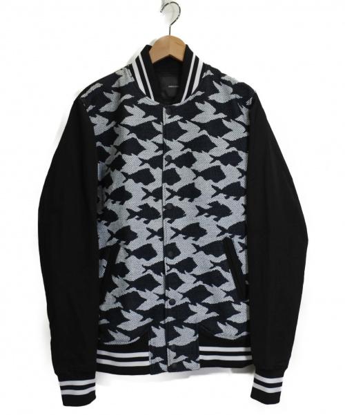 yoshio kubo(ヨシオクボ)yoshio kubo (ヨシオクボ) BIRD TO FISH BLOUSON ブラック×ホワイト サイズ:SIZE 2の古着・服飾アイテム