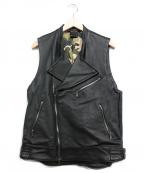 KIIT(キート)の古着「ライダースベスト」|ブラック