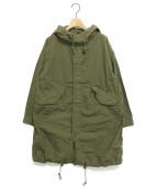OMNIGOD(オムニゴッド)の古着「高密度ブロードオーバーモッズコート」|オリーブ