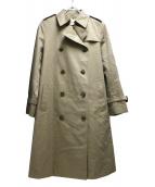UNITED ARROWS TOKYO(ユナイティッドアローズトウキョウ)の古着「ギャバトレンチコート」|ベージュ