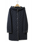 LEILIAN(レリアン)の古着「フード付キルティングコート」|ネイビー