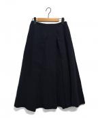 KEITA MARUYAMA(ケイタマルヤマ)の古着「Plain cottonスカート」 ネイビー