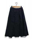 KEITA MARUYAMA(ケイタ マルヤマ)の古着「Plain cottonスカート」|ネイビー