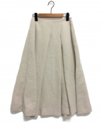 KEITA MARUYAMA(ケイタマルヤマ)の古着「Plain Cottonスカート」 ベージュ