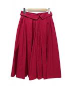 JILL STUART(ジルスチュアート)の古着「ラウラタックプリーツスカート」|ピンク
