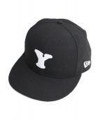 Yohji Yamamoto pour homme(ヨウジヤマモトプールオム)の古着「パッチデザインキャップ」|ブラック