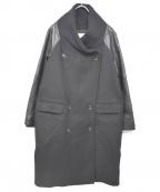 REKISAMI(レキサミ)の古着「レザースリーブコート」|ブラック