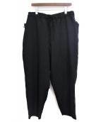 Yohji Yamamoto pour homme(ヨウジヤマモトプールオム)の古着「ポケット切替ヘビーウールワイドパンツ」|ブラック