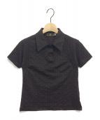 FENDI(フェンディ)の古着「[OLD]ズッカ柄ポロシャツ」|ブラウン