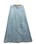 CINOH(チノ)の古着「サテノングスカート」|ライトブルー
