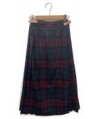 ONEIL OF DUBLIN(オニール オブ ダブリン)の古着「ロングキルトスカート」 ボルドー