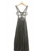 AMERI(アメリヴィンテージ)の古着「ハーネスサスペンダースカート」|グレー