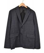 417 by EDIFICE(フォーワンセブンバイエディフィス)の古着「キャリーマンポンチ2Bジャケット」 ネイビー