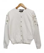 QUEENS COURT(クイーンズコート)の古着「袖シフォンジュエルアンサンブル」 ホワイト