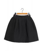 FOXEY(フォクシー)の古着「キルティングスカート」|ブラック