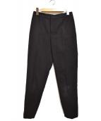 TOMORROW LAND(トゥモローランド)の古着「コットンダブルクロリムストレートパンツ」|ブラック