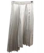 RAY BEAMS(レイビームス)の古着「アシンメトリープリーツスカート」|ベージュ