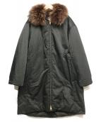 MACKINTOSH PHILOSOPHY(マッキントッシュフィロソフィー)の古着「ファー付ダウンコート」|ブラック