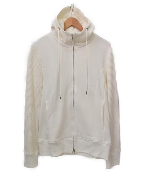 AKM(エーケーエム)AKM (エイケイエム) ワッフルアームパーカー ホワイト サイズ:XLの古着・服飾アイテム