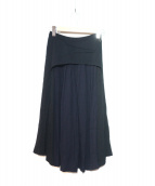 TOGA PULLA(トーガ プルラ)の古着「プリーツパネルスカート」|ネイビー