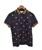 GUCCI(グッチ)の古着「エンブロイダリーポロシャツ」|ネイビー