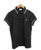 CELINE(セリーヌ)の古着「20SS シグネチャー付クラシックポロシャツ」|ブラック