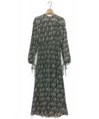 CELFORD(セルフォード)の古着「ペイズリープリントワンピース」|ブラック
