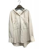 RAY BEAMS(レイビームス)の古着「ビッグポケットフーディーシャツ」|アイボリー
