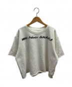 MM6(エムエムシックス)の古着「ロゴプルオーバースウェット」|ホワイト