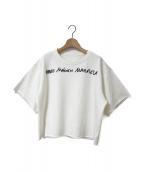 MM6 Maison Margiela(エムエムシックス メゾンマルジェラ)の古着「ロゴプルオーバースウェット」|ホワイト