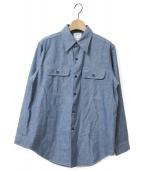 MADISON BLUE(マディソンブルー)の古着「シャンブレーシャツ」|ブルー