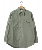 MADISON BLUE(マディソンブルー)の古着「BACK SATINシャツ」|カーキ