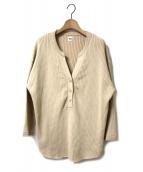Ron Herman(ロンハーマン)の古着「ヘンリーネックニット」|ベージュ